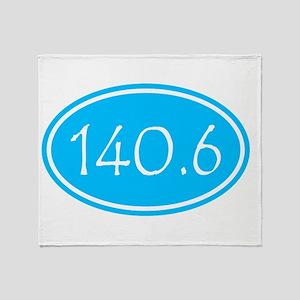 Sky Blue 140.6 Oval Throw Blanket