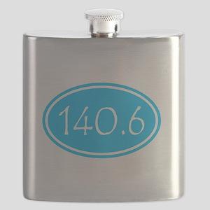 Sky Blue 140.6 Oval Flask