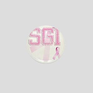 SGI initials, Pink Ribbon, Mini Button