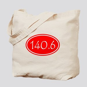 Red 140.6 Oval Tote Bag