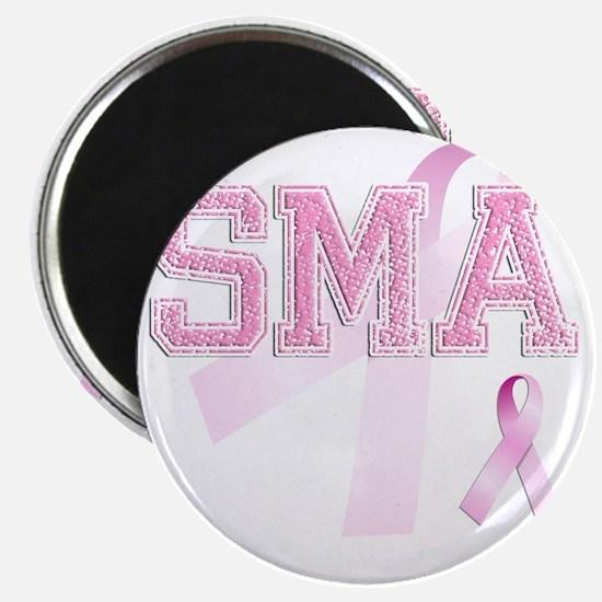 SMA initials, Pink Ribbon, Magnet