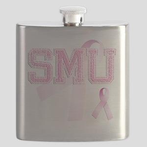 SMU initials, Pink Ribbon, Flask