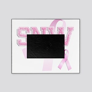SNW initials, Pink Ribbon, Picture Frame