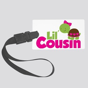 Girl Turtle Lil Cousin Large Luggage Tag