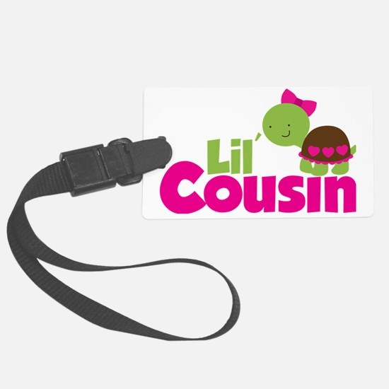 Girl Turtle Lil Cousin Luggage Tag