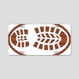 BOOT ROSEWOOD oval Aluminum License Plate