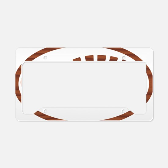 BOOT ROSEWOOD oval License Plate Holder