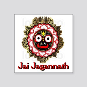 "Jai Jagannath Square Sticker 3"" x 3"""
