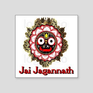 "Jai Jagannath Square Sticker 3"" x 3"""