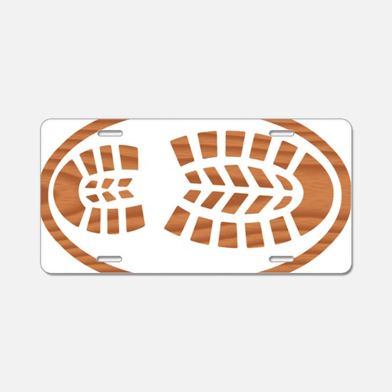 Cypress Boot Oval Aluminum License Plate