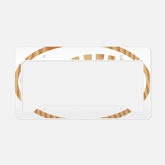 BOOT PINE Oval License Plate Holder