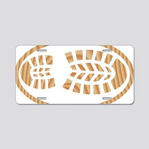 BOOT PINE Oval Aluminum License Plate