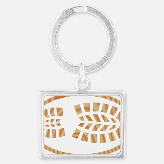 BOOT PINE Oval Landscape Keychain