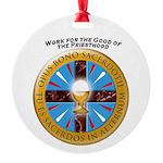 Opus Bono Icon Round Ornament