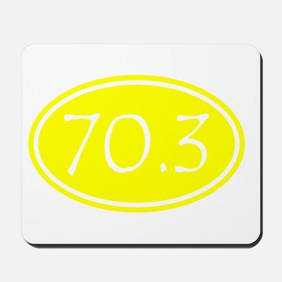 Yellow 70.3 Oval Mousepad