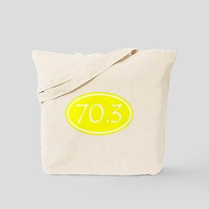 Yellow 70.3 Oval Tote Bag