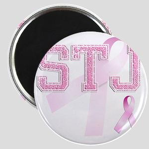 STJ initials, Pink Ribbon, Magnet