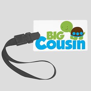 Boy Turtle Big Cousin Large Luggage Tag