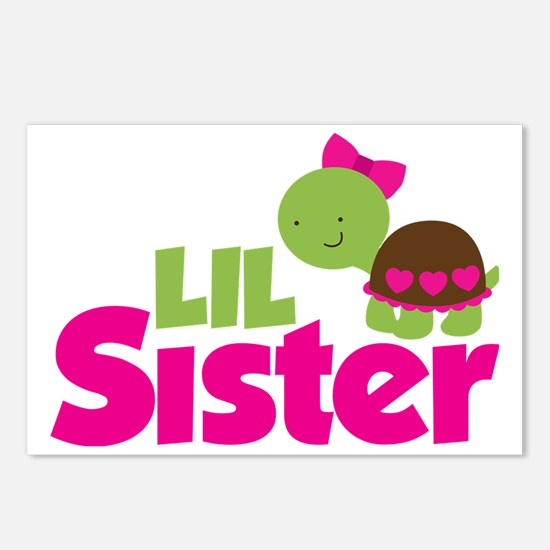 Girl Turtle Little Sister Postcards (Package of 8)