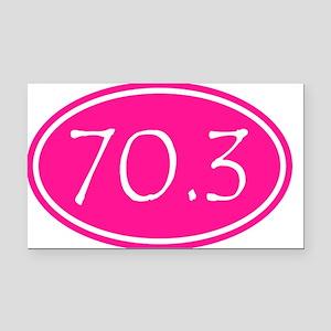 Pink 70.3 Oval Rectangle Car Magnet