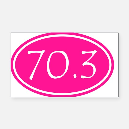 Pink 70.3 Oval Rectangle Car Magnet