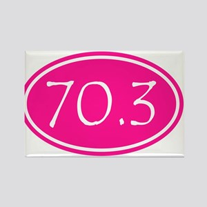 Pink 70.3 Oval Magnets