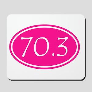 Pink 70.3 Oval Mousepad