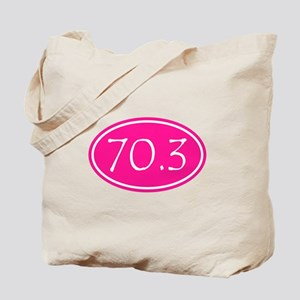 Pink 70.3 Oval Tote Bag