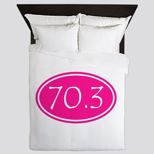 Pink 70.3 Oval Queen Duvet