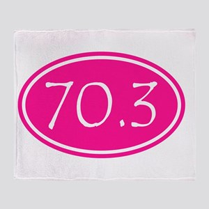 Pink 70.3 Oval Throw Blanket