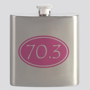 Pink 70.3 Oval Flask