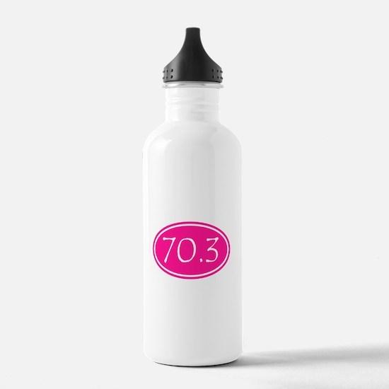 Pink 70.3 Oval Water Bottle