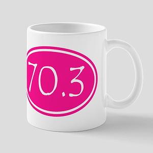 Pink 70.3 Oval Mugs