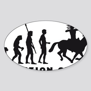 Evolution Indianer B Sticker (Oval)