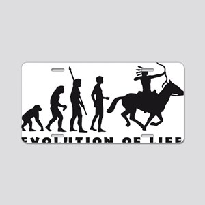 Evolution Indianer B Aluminum License Plate
