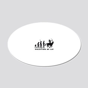 Evolution Indianer B 20x12 Oval Wall Decal