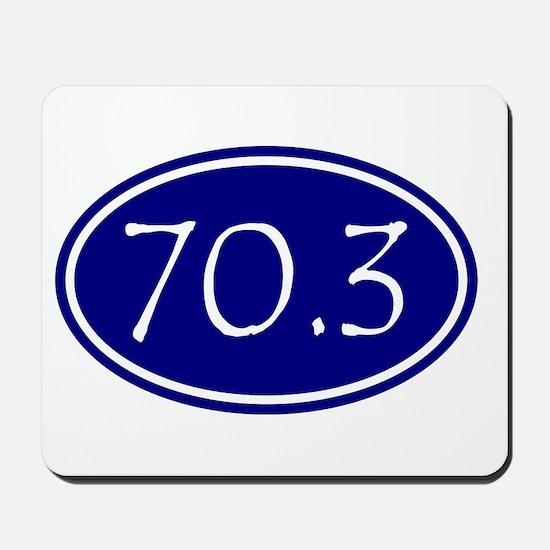 Blue 70.3 Oval Mousepad
