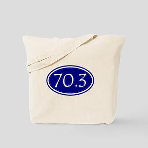 Blue 70.3 Oval Tote Bag