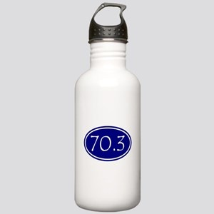 Blue 70.3 Oval Water Bottle