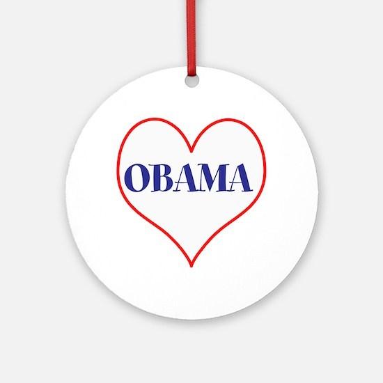 I love Obama Round Ornament