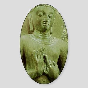 The Buddha in Bronze Sticker (Oval)