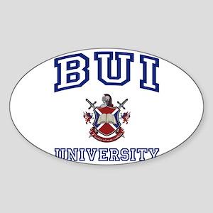BUI University Oval Sticker