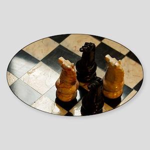 The Tweedy Chessmen Sticker (Oval)