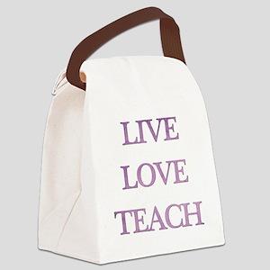 LIVE LOVE TEACH Canvas Lunch Bag