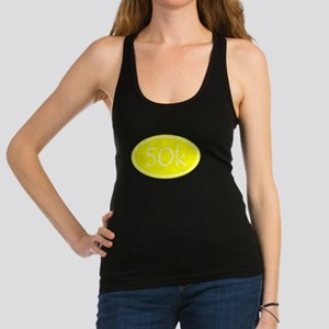 Yellow 50k Oval Racerback Tank Top