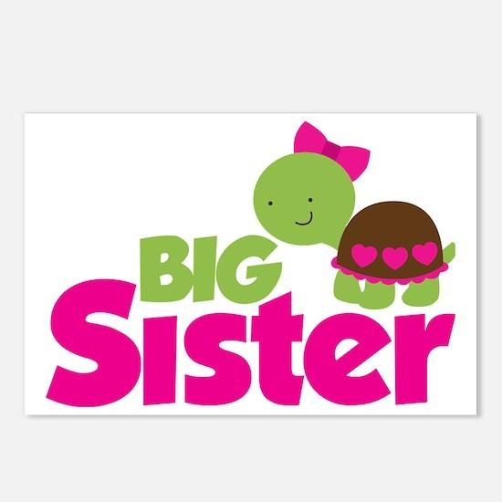 Girl Turtle Big Sister Postcards (Package of 8)