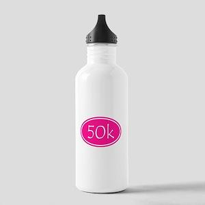 Pink 50k Oval Water Bottle