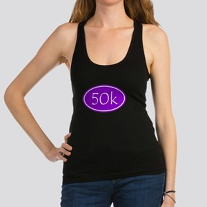 Purple 50k Oval Racerback Tank Top