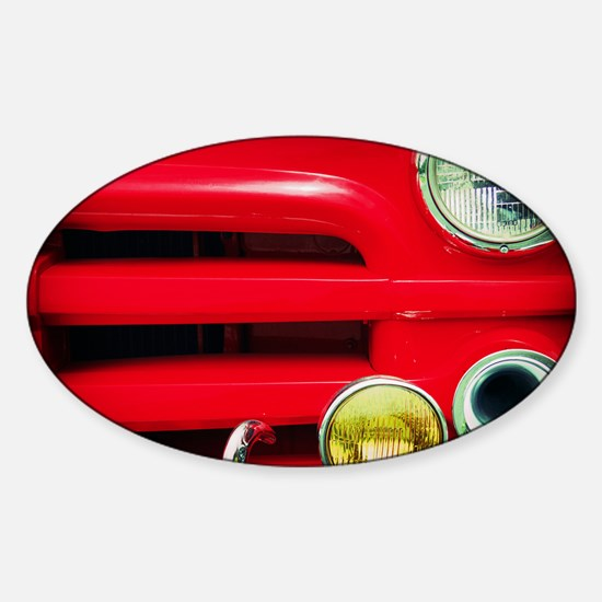 The Red Truck Sticker (Oval)