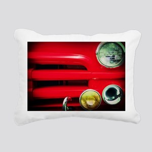 The Red Truck Rectangular Canvas Pillow